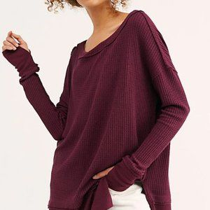 Free People North Shore Thermal Top NWT